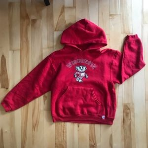 Wisconsin Badger Youth Large Hoodie